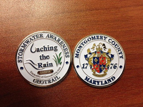 Image of Caching the Trail geocoin.