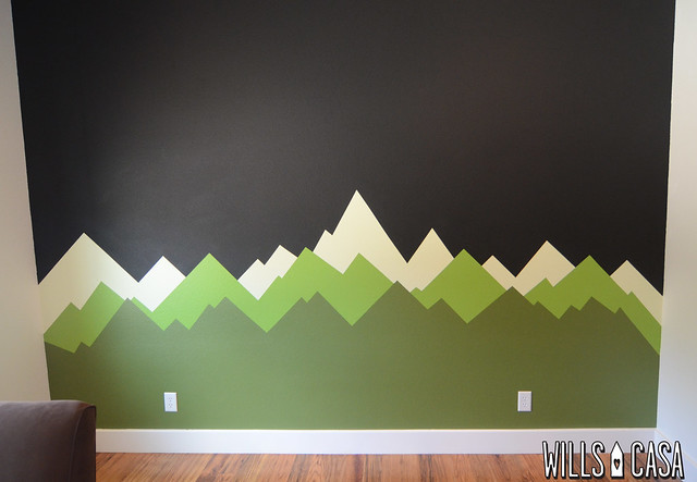 Mountain Wall Mural mountain mural: the makings of a ron swanson nursery - wills