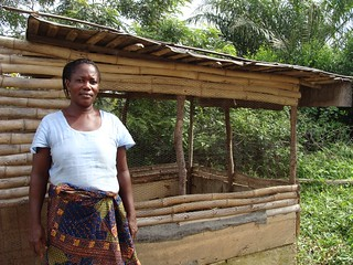 Feed the Future helps small farmers, especially women, build improved chicken coops. Northern Ghana