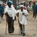 Old Friends Talking Together at Debark Market - Ethiopia