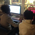 Jimela and Zwena learning 3D printing with their own designs in Tinkercad