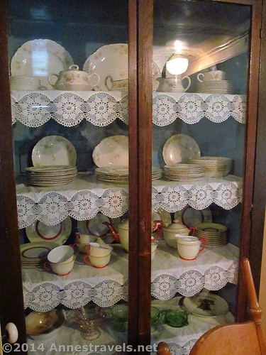 The china cabinet at the Holzwarth Historic Site, Rocky Mountain National Park, Colorado