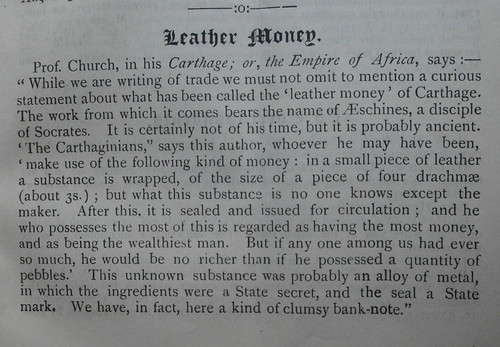 Leather Money article