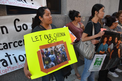 Let our children go #protest at ICE as #Obama spoke on immigration reform #cirnow #ActOnReform #cir #not1more