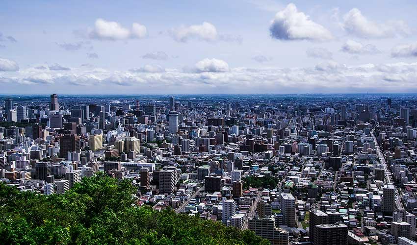 丸山山頂より札幌市街