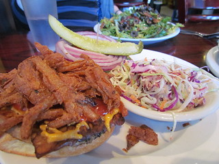Texas Burger with Slaw at Hungry Tiger Too