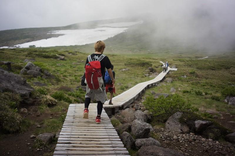 白山 ファーストアタック 弥陀が原から黒ボコ岩