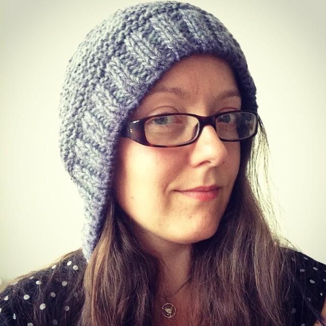 capucine hat, pre-blocking