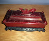 Vintage Red Asian Celluloid dresser box