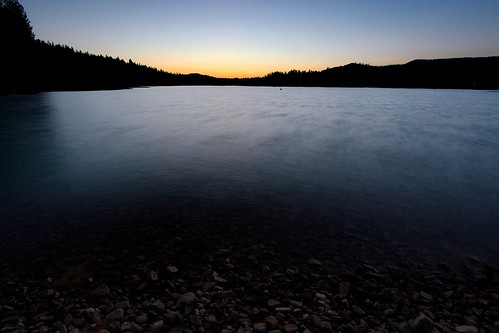 blue sunset sky orange lake black mountains nature water rock canon rocks bass wideangle slowshutter swag basslake t3i