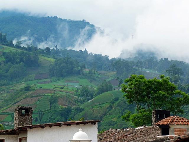 Paisaje desde el Hotel las Cumbres de Zunil (Quetzaltenango, Guatemala)