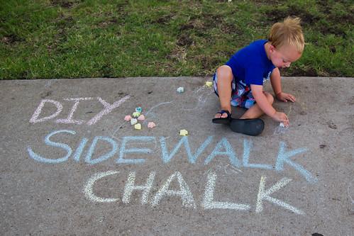 DIY Sidewalk Chalk #ShowUsYourMess #PMedia #ad