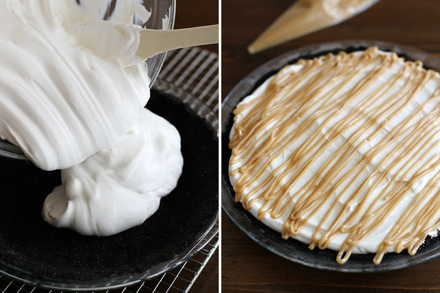 Salted Caramel Peanut Butter Cream Pie | girlversusdough.com