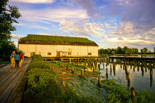 Richmond Steveston Heritage Site at Sunset