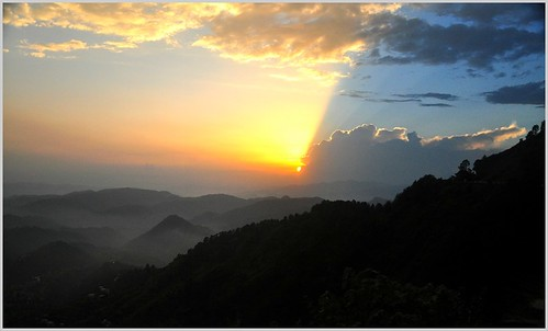 sunset india mountains shimla himalayas himachalpradesh