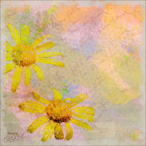 Image of yellow daisies that used Ultimate Artist action for effect