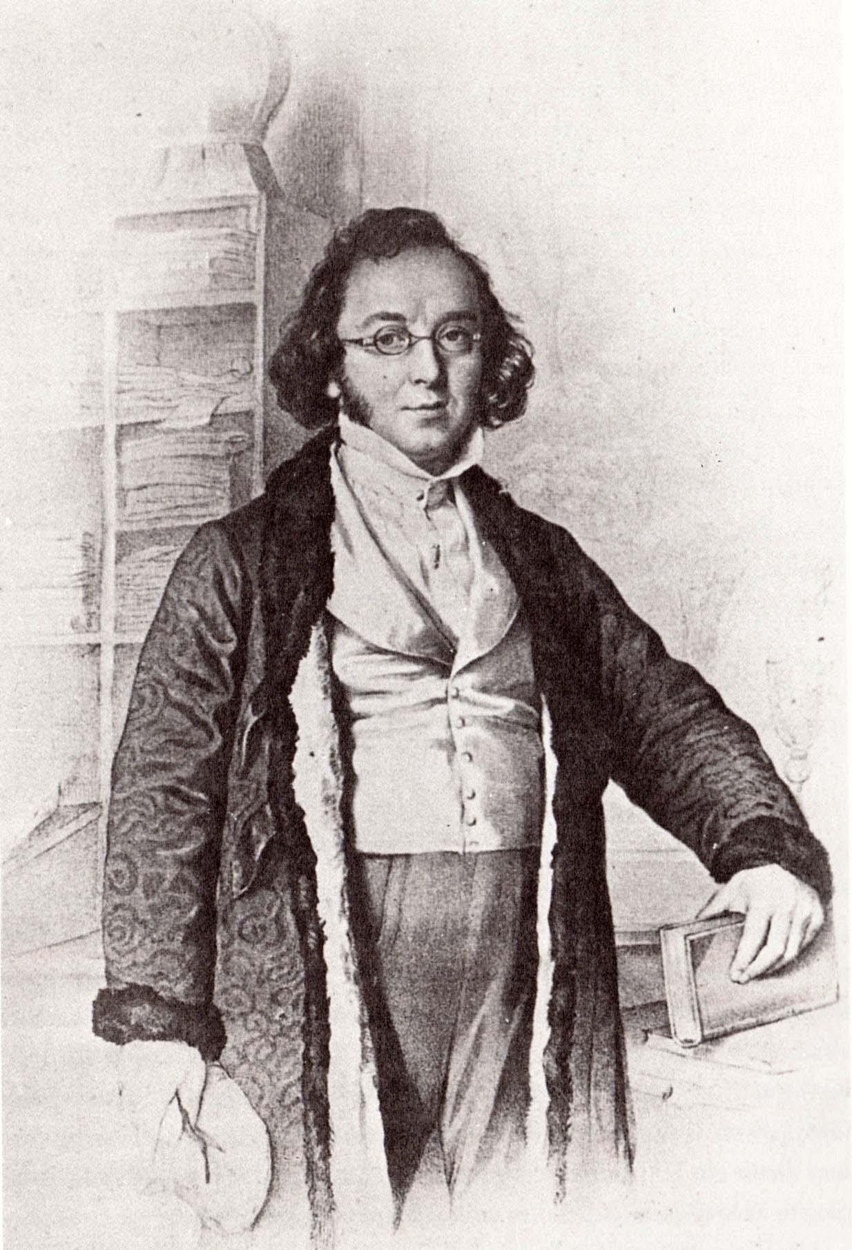 Ferdinand Diez, Ludwig Bechstein, 1843, aus Klaus Günzel, Die deutschen Romantiker. Artemis, Zürich 1995