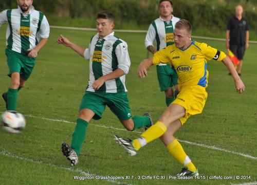 Cliffe FC XI 3 - 7 Wigginton Grasshoppers XI 2Aug14