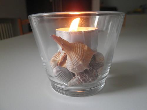 candelina e conchiglie