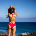 RED One Piece Swimsuit : Sony A7R RAW Photos of Tall, Thin Pretty Brunette Bikini Swimsuit Model Goddess! Carl Zeiss Sony FE 55mm F1.8 ZA Sonnar T* Lens! Lightroom 5 .3 ! by 45SURF Hero's Odyssey Mythology Landscapes & Godde