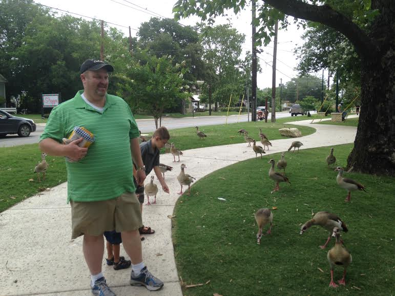 daddy and ducks