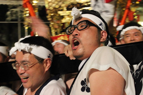天神祭:鳳神輿 当屋入り(2014.7.25)