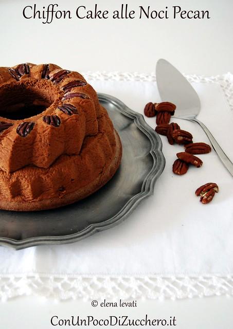 Chiffon Cake alle noci pecan