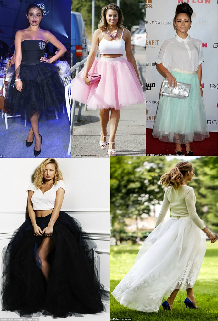 How-celebrities-wear-tulle-trend, white high low tulle skirt, high low tulle skirt, white tulle skirt, Carolina Herrera, Carolina Herrera tulle skirt, pink tutu skirt, ballerina-inspired look, ballerina-inspired skirt, ballerina-inspired trend, mint tulle skirt, midi length mint tulle skirt, black tulle ballerina skirt
