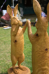 carving, art, chainsaw carving, sculpture, rabbit, rabits and hares, statue,
