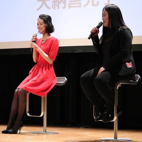 安田早紀さんと大納言光子さんのトークセッション。和やかな雰囲気。 #lovecanada150