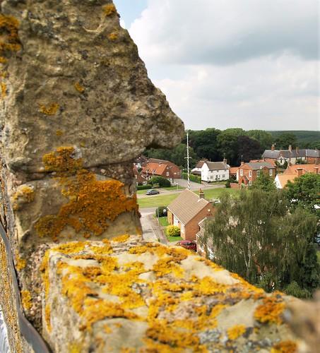 wellow maypole nottinghamshire village dancing church green birds eye view