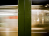 New York; Subway In Motion by drasphotography