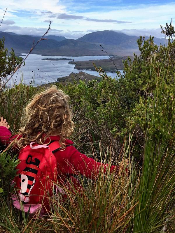 Daisy. Mountain climbing six-year-old. Mt Beattie.
