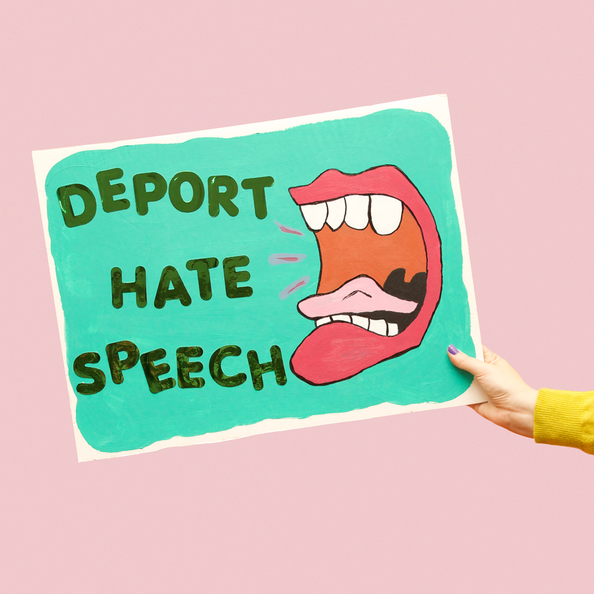 45 Protest Signs_Brandon and Olivia Locher_27_Deport hate speech