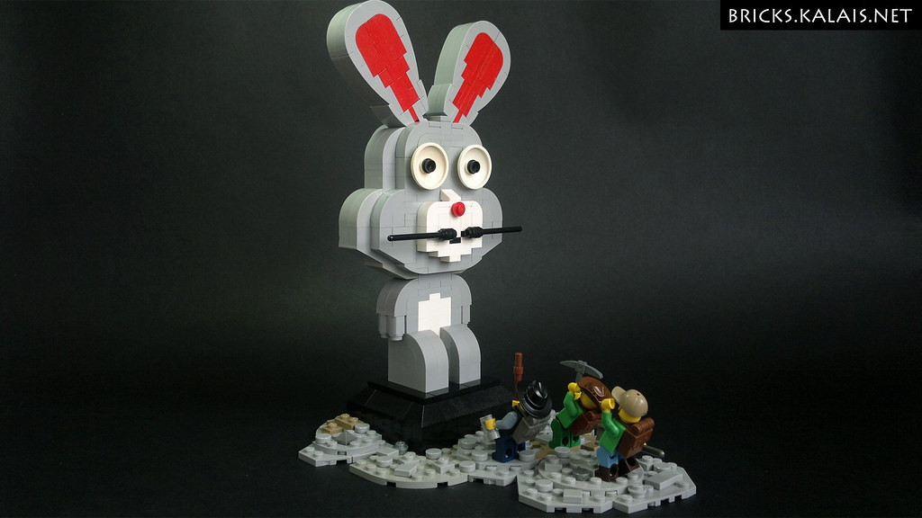 Happy Easter! We've found the bunny! (custom built Lego model)