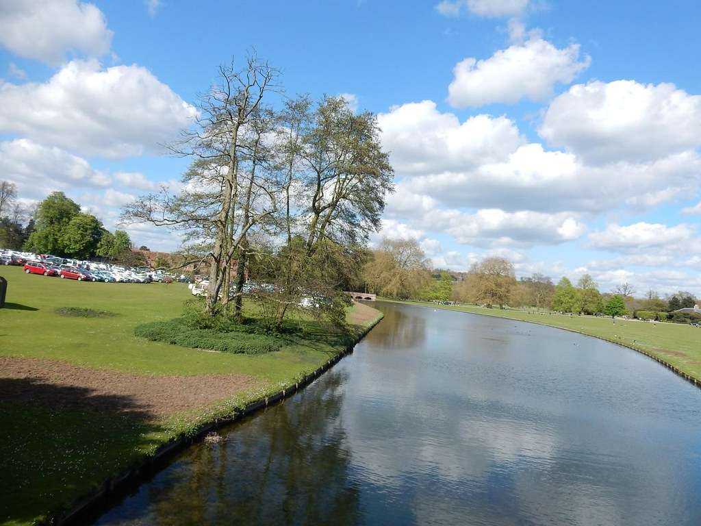 The Cam at Audley End Great Chesterford to Newport