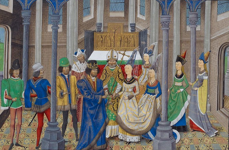 Marriage of King John I of Portugal to Philippa of Lancaster during the Treaty of Windsor