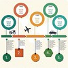 free vector aeroplane infographic templates