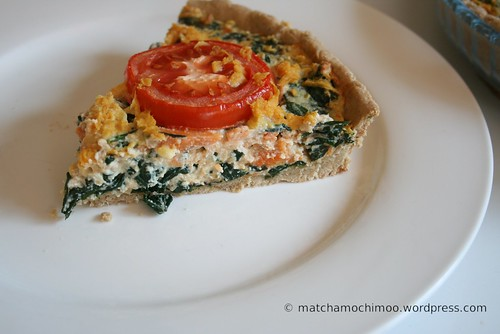 Easy Kale, Tomato & Tofu Quiche ~ Vegan, Gluten-free 無麩質 ...