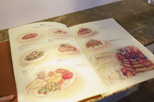 菜單出來了! 是手繪風的非常可愛!