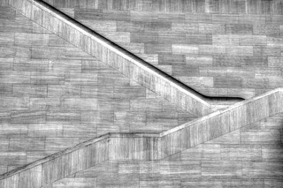 Gallery Stairs in Black and White
