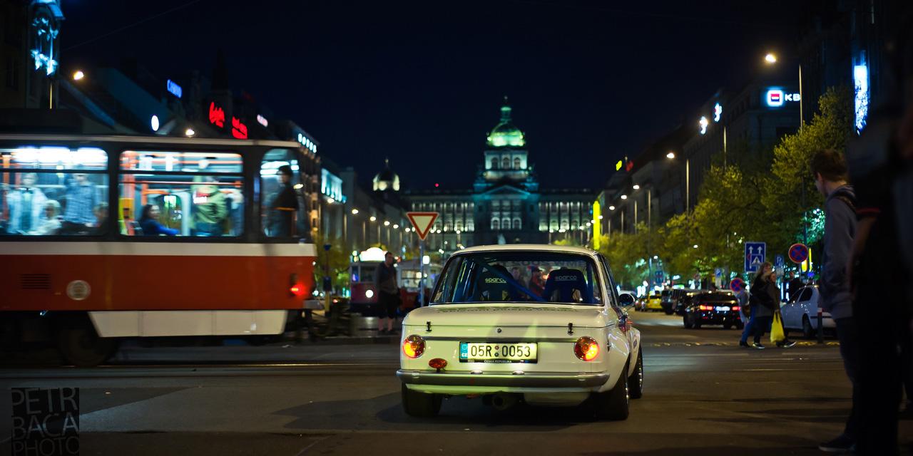 Rallye Praha Revival 2014, RPR, Eda Patera, Václavské náměstí, Národní muzeum, BMW 2002,