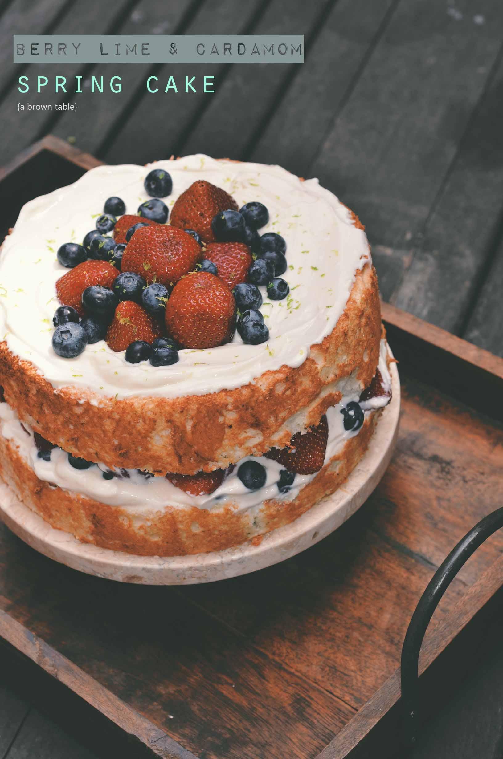 berry lime cardamom spring cake