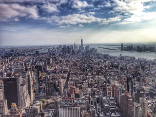 View of lower Manhattan from the Empire State Building. | by Anthony Quintano