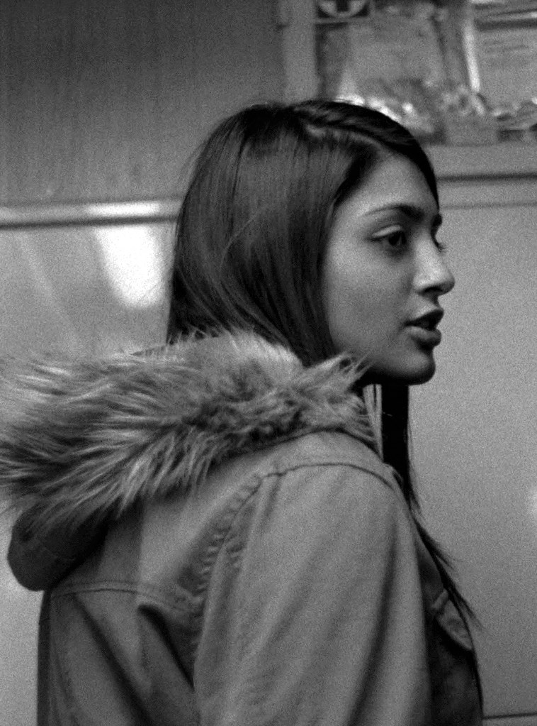 Praktica BC1 - One of the Most Beautiful Women I've ever seen (Taken in the tram) – Detail