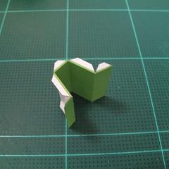 วิธีทำโมเดลกระดาษตุ้กตา คุกกี้ รัน คุกกี้รสซอมบี้ (LINE Cookie Run Zombie Cookie Papercraft Model) 018