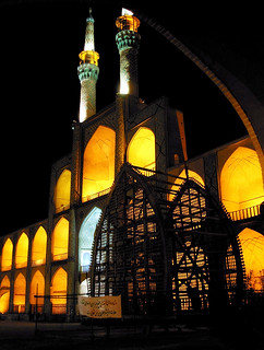 Night lights in Yazd
