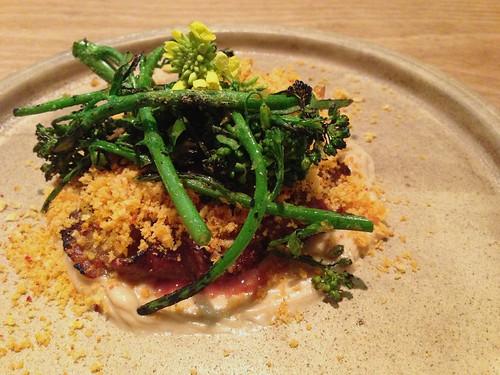 Beef, Charred Broccoli at Trois Mec