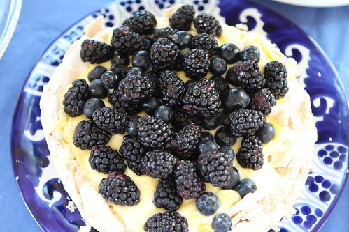 Blackberry and Lemon Curd Pavlova