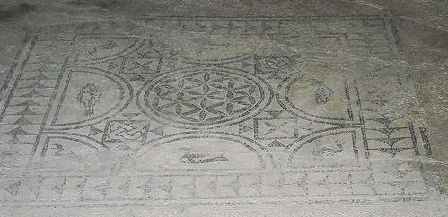 """The last days of Pompeii"" / ""Gli ultimi giorni di Pompei"" (1834) by Edward Bulwer-Lytton - House of Tragic Poet as House of Glaucus - Pompeii - Mosaic floor"